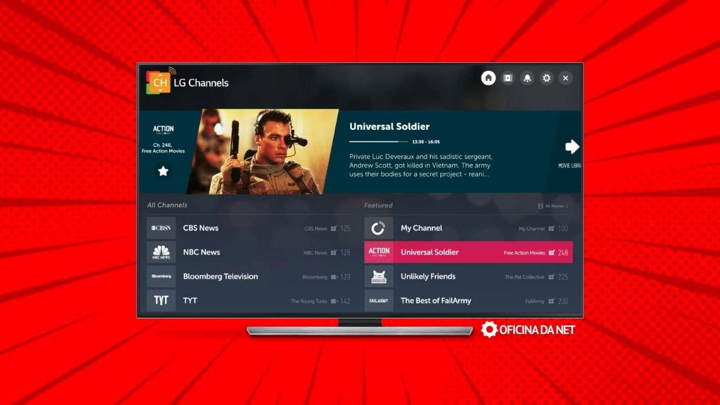 LG Channels adiciona três novos canais na plataforma de IPTV