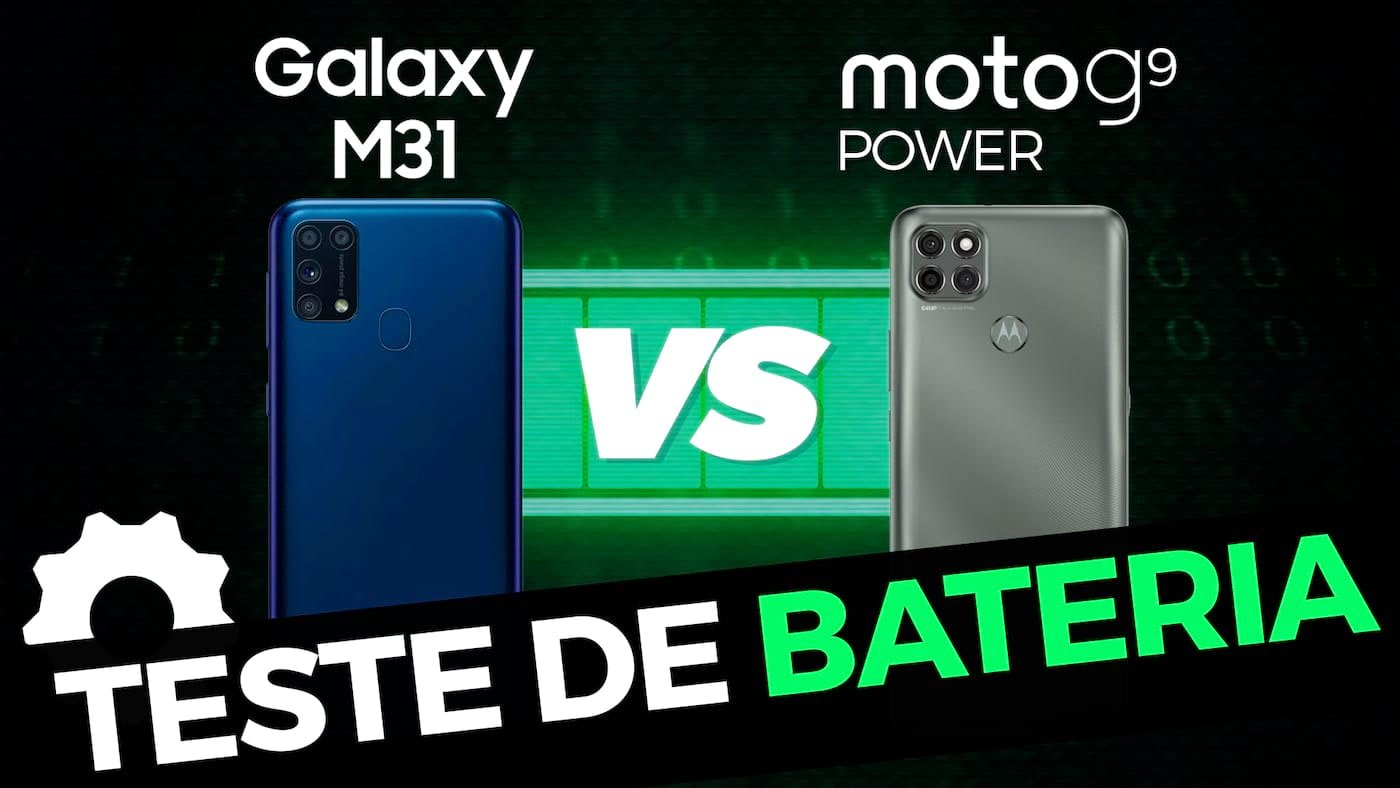 6000mAh! Galaxy M31 vs Moto G9 Power teste lado a lado de bateria