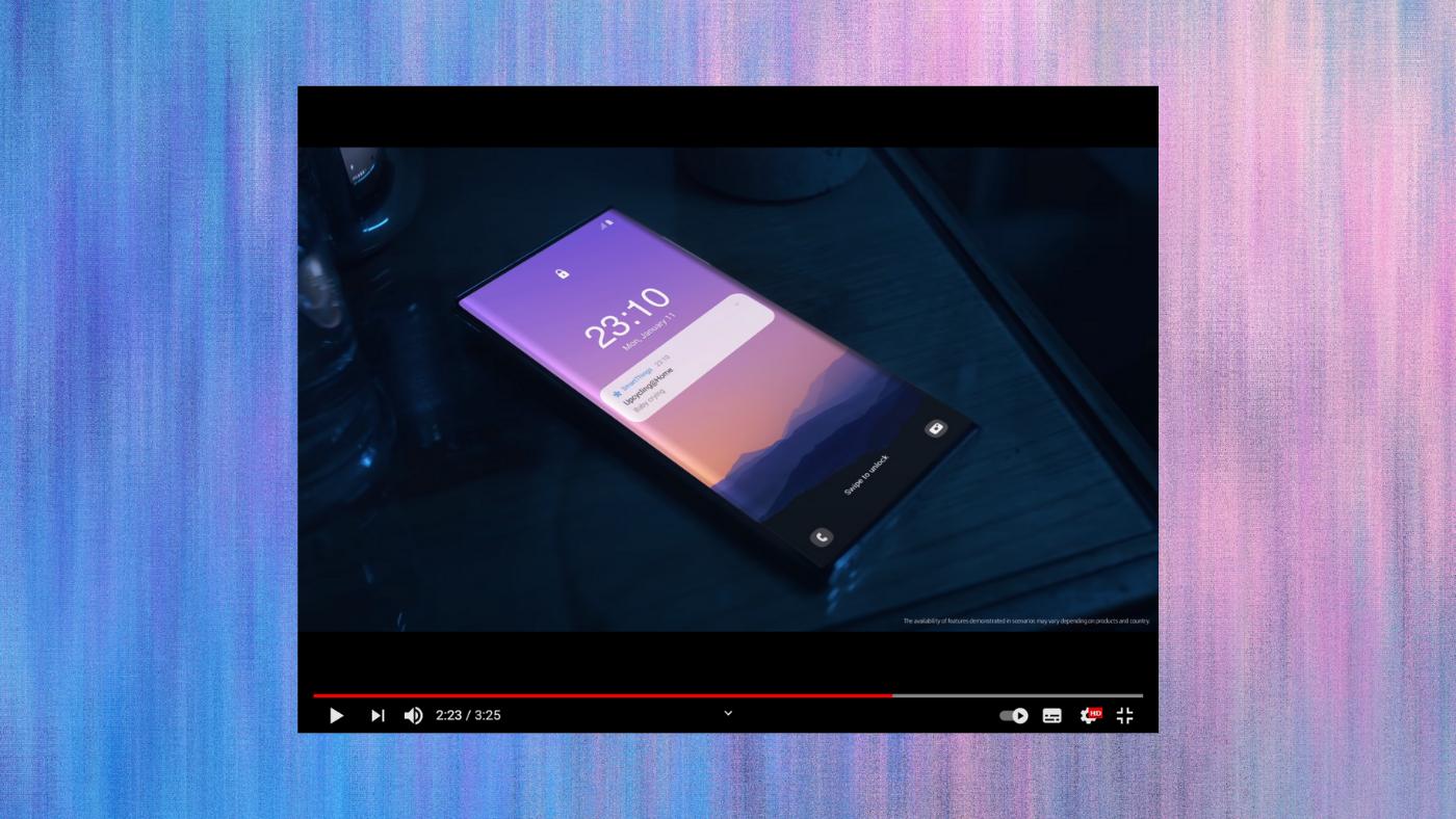 CES 2021: Samsung mostra vídeo do suposto Note 21 com câmera sob a tela
