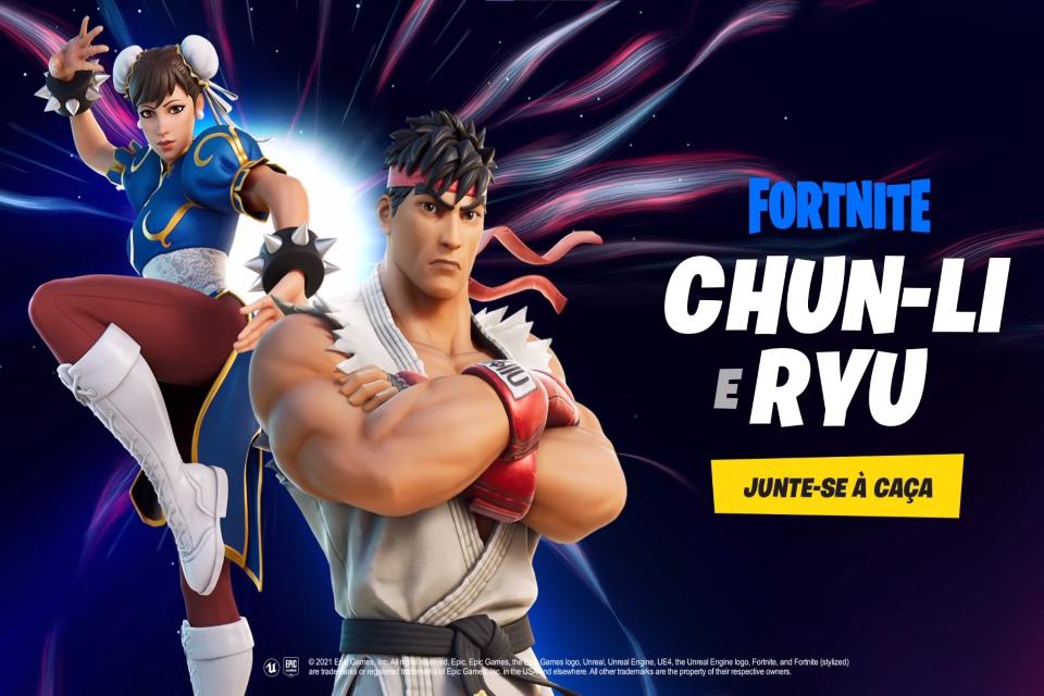 Fortnite: crossover com Street Fighter traz skins de Ryu e Chun-Li