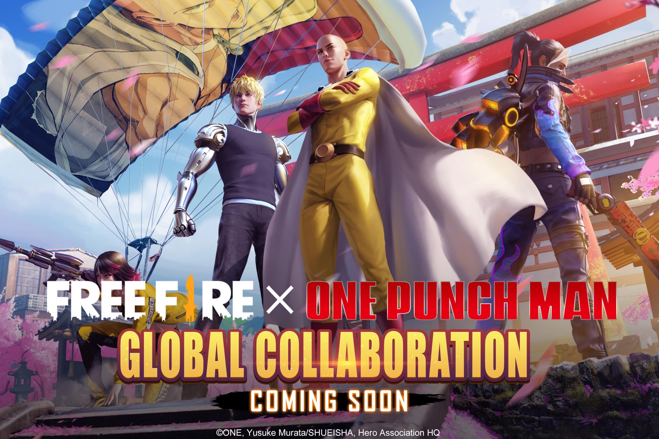 Free Fire: jogo terá crossover com One Punch Man