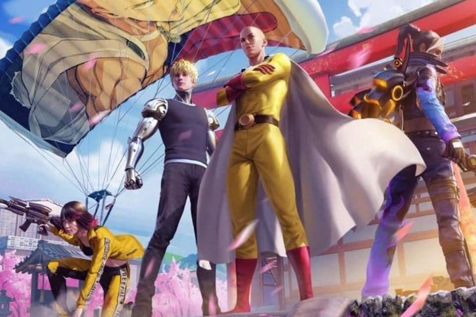 Free Fire: veja os novos itens do crossover com One Punch Man!