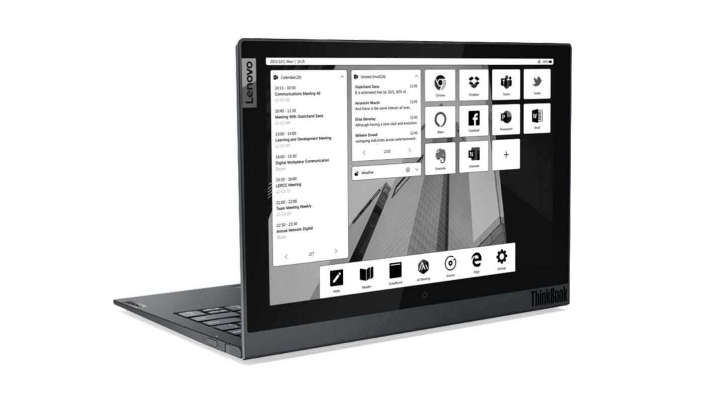 Lenovo anuncia notebook ThinkBook Plus com tela e-Ink de 12 polegadas