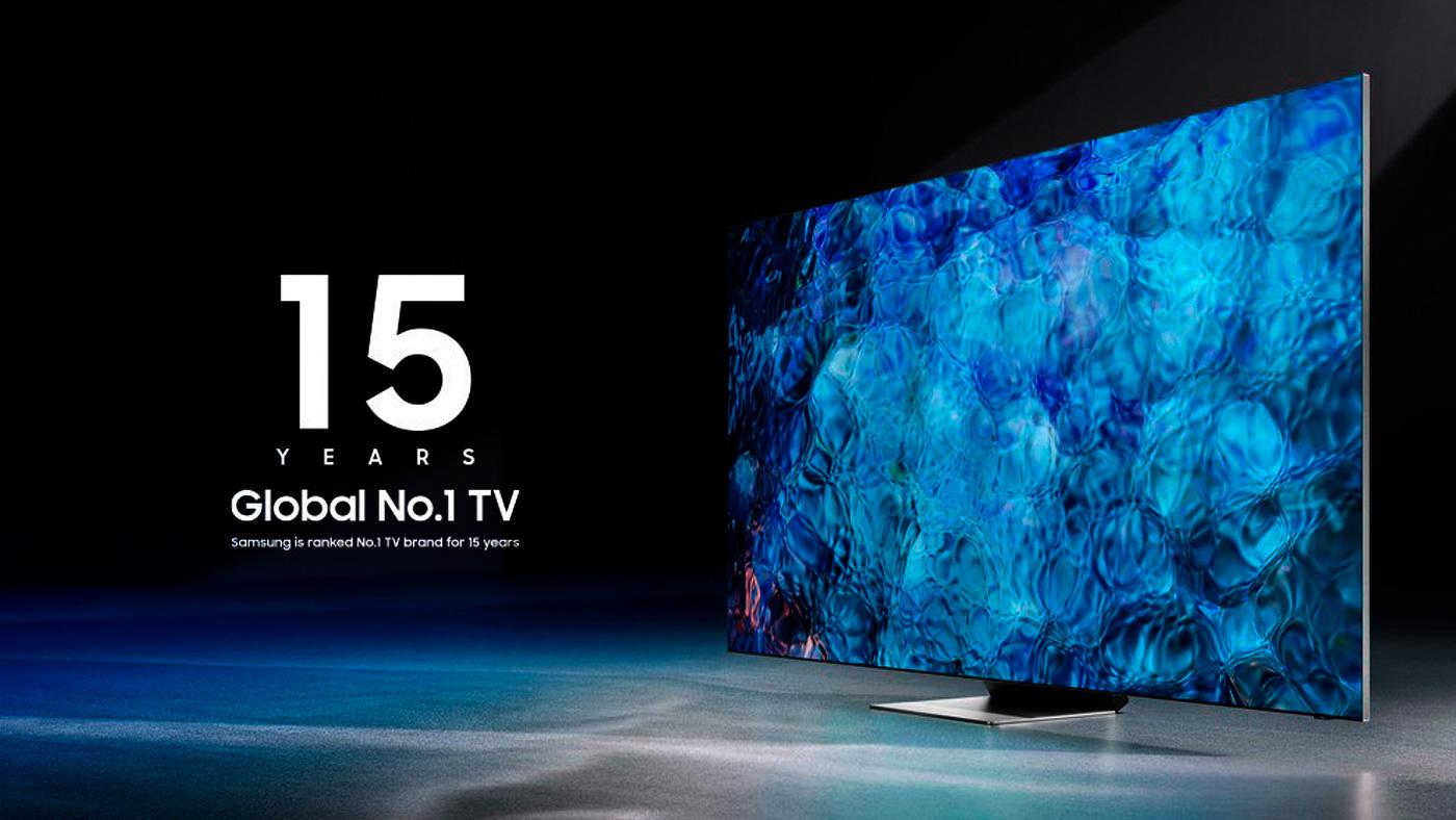 Samsung é eleita líder global na fabricação de TVs pelo 15º ano consecutivo
