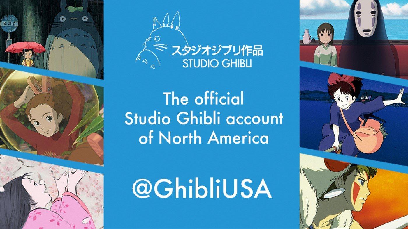 Studio Ghibli cria conta norte americana no Facebook, Instagram e Twitter