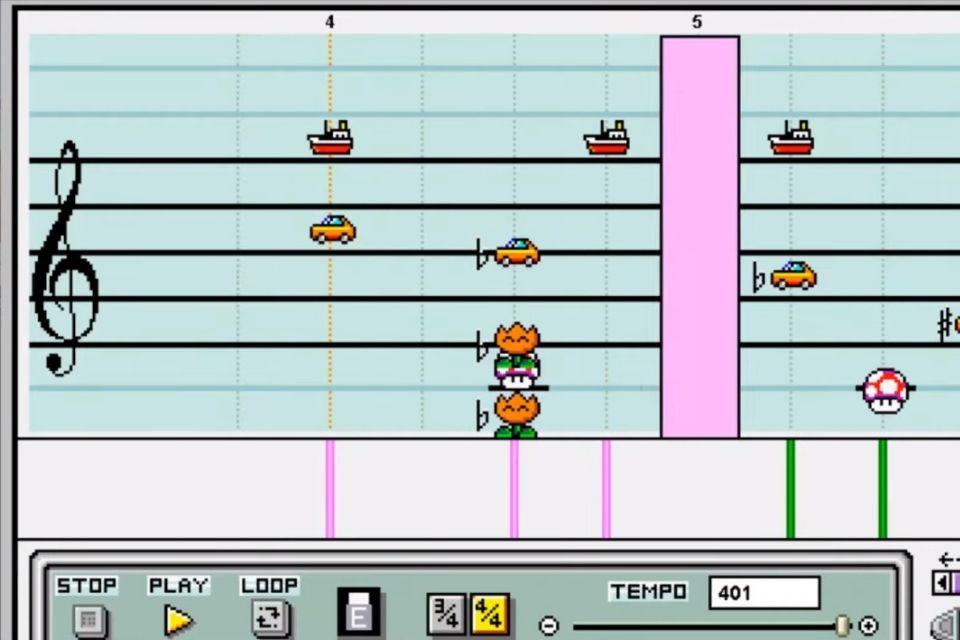 Brasileiro recria tema da Grande Família no Mario Paint de SNES